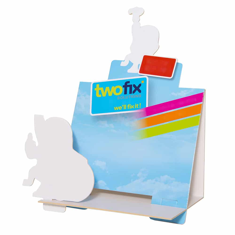 TwoFixSolutions Displays Boites Collage Carton 1